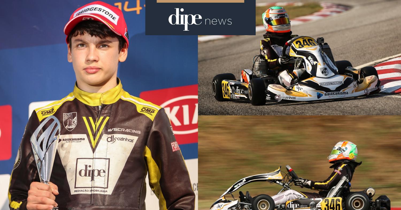 Vimaranense Luís Alves de apenas 13 anos sagra-se campeão nacional de Karting Júnior.